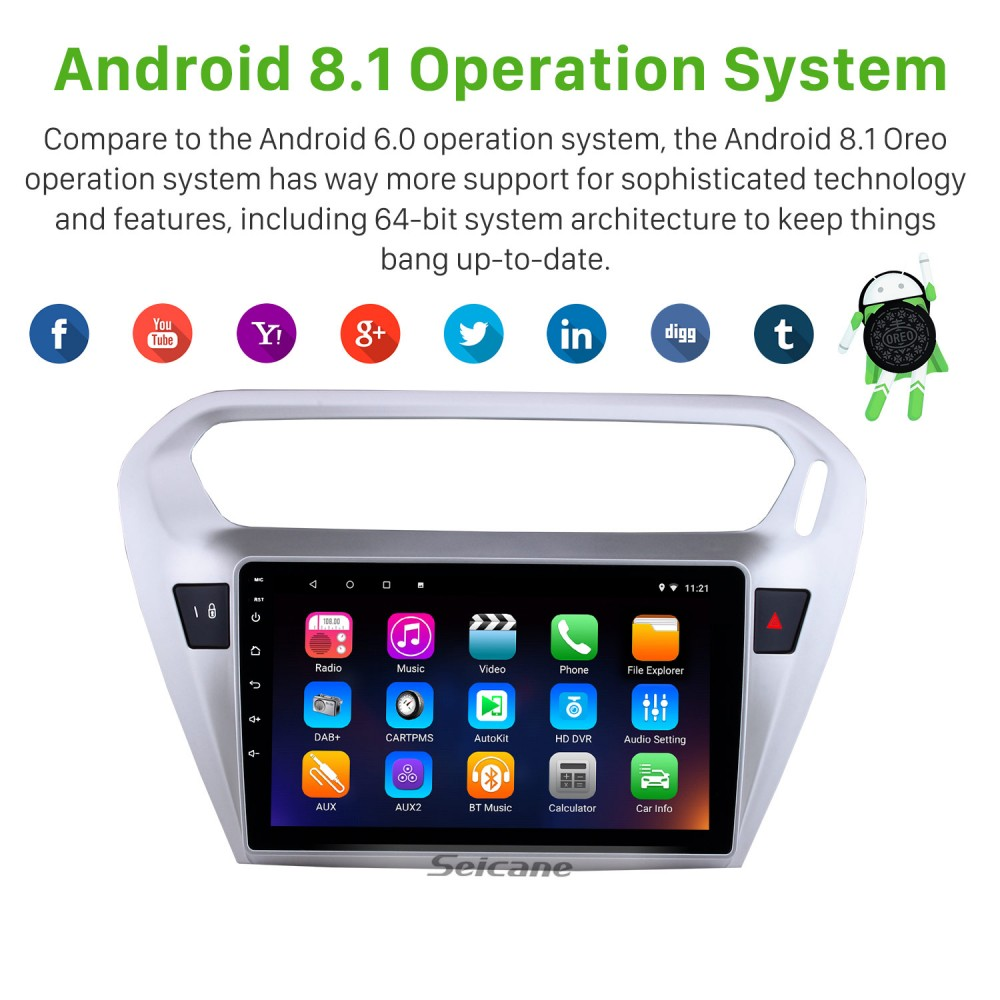 9 Inch Android 8 1Touch Screen radio Bluetooth GPS