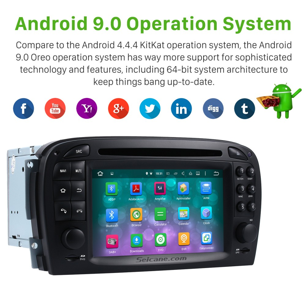 Android 9 0 Car dvd player for Mercedes SL R230 SL350 SL500