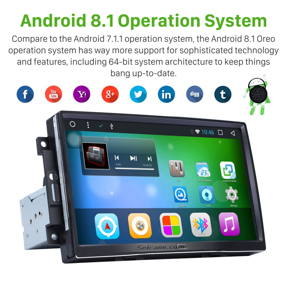 9 Inch Android 8 1 Autoradio Gps Navigation Bluetooth For