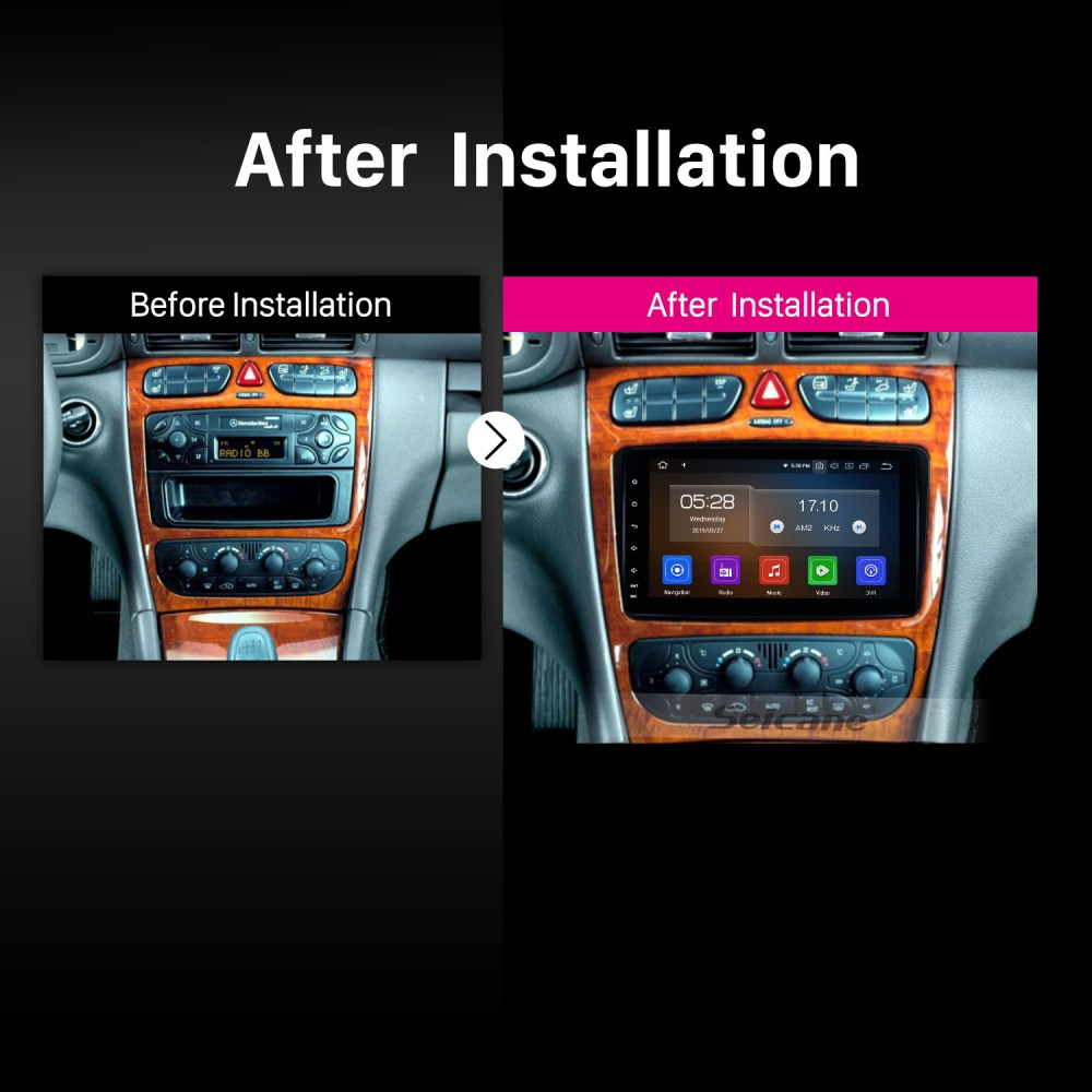 1998 1999 2000 2001-2002 Mercedes-Benz E-W210 Android 9 0