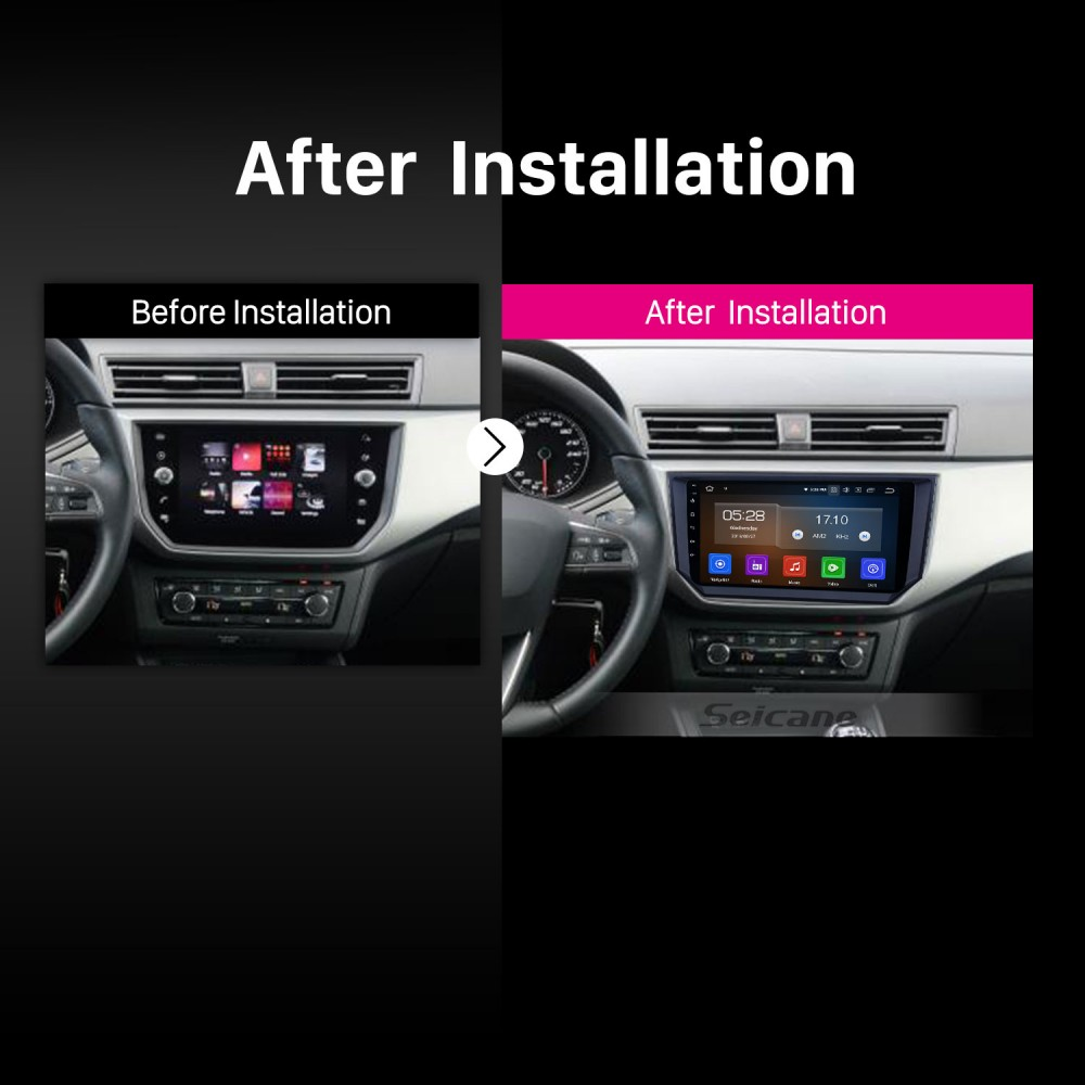 Android 9 0 9 Inch Gps Navigation Radio For 2018 Seat Ibiza With