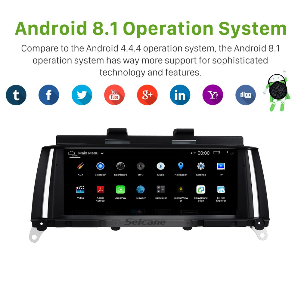 8 8 Inch Android 8 1 HD Touchscreen 2014-2016 BMW X3 F25/X4