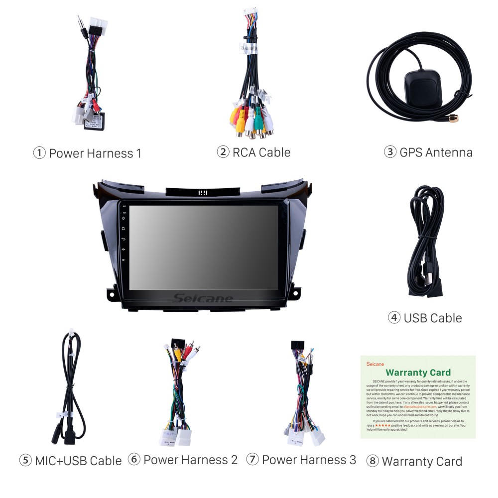 10 1 inch2015 2016 2017 Nissan Murano Android 9 0 HD