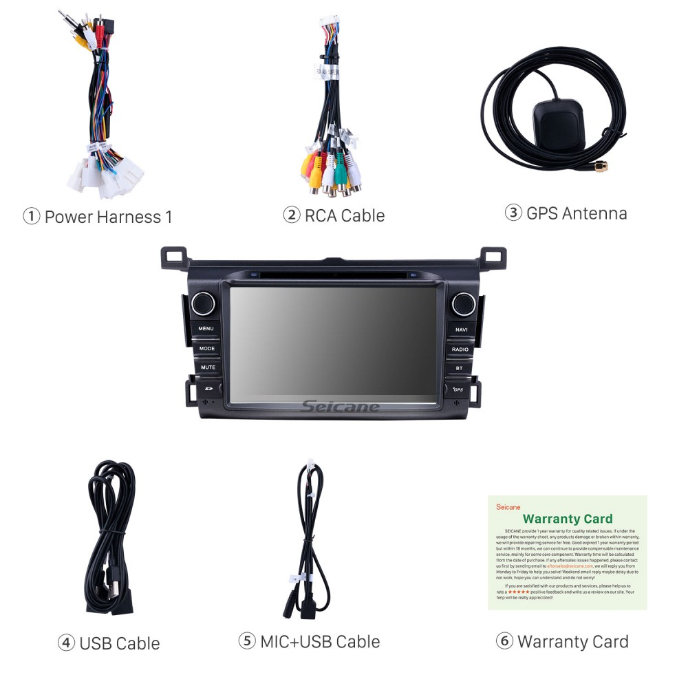 7 inch Android 9 0 GPS Navigation Radio for 2013-2016 Toyota