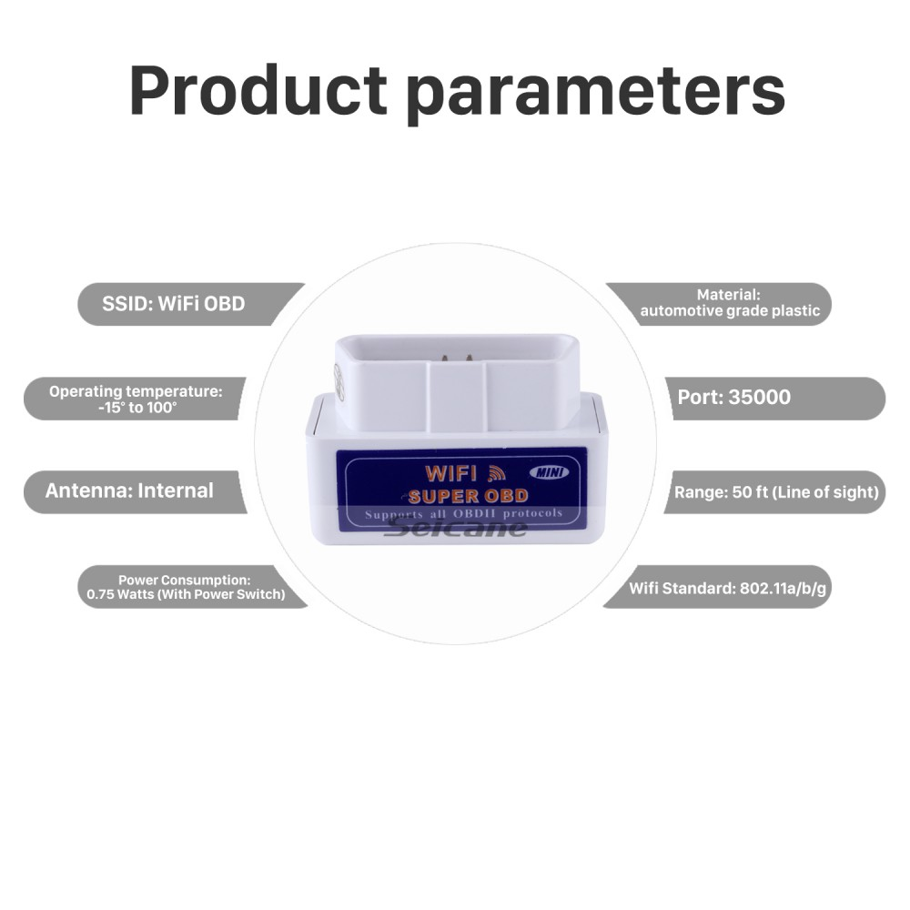 Seicane High Quality WIFI OBD2 / OBDII Auto Diagnostic