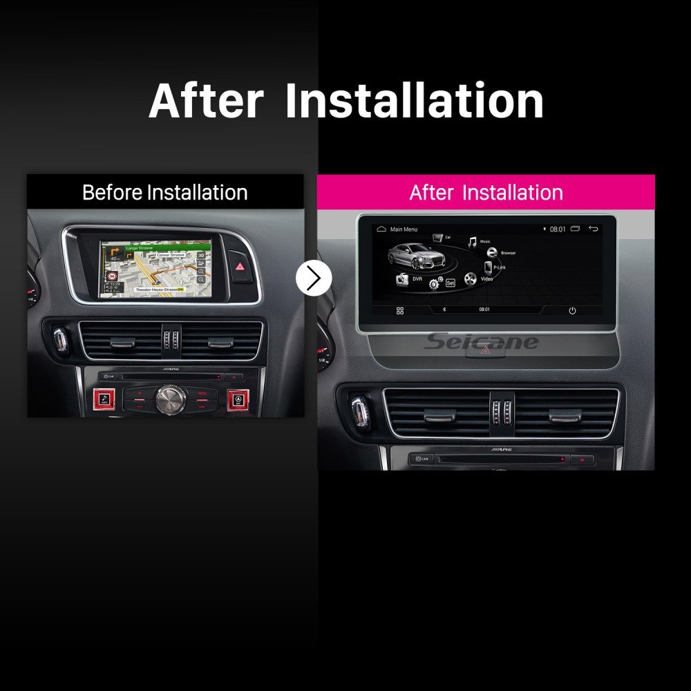 10 25 inch 2009-2018 AUDI A5 Left Hand Driving Car Android
