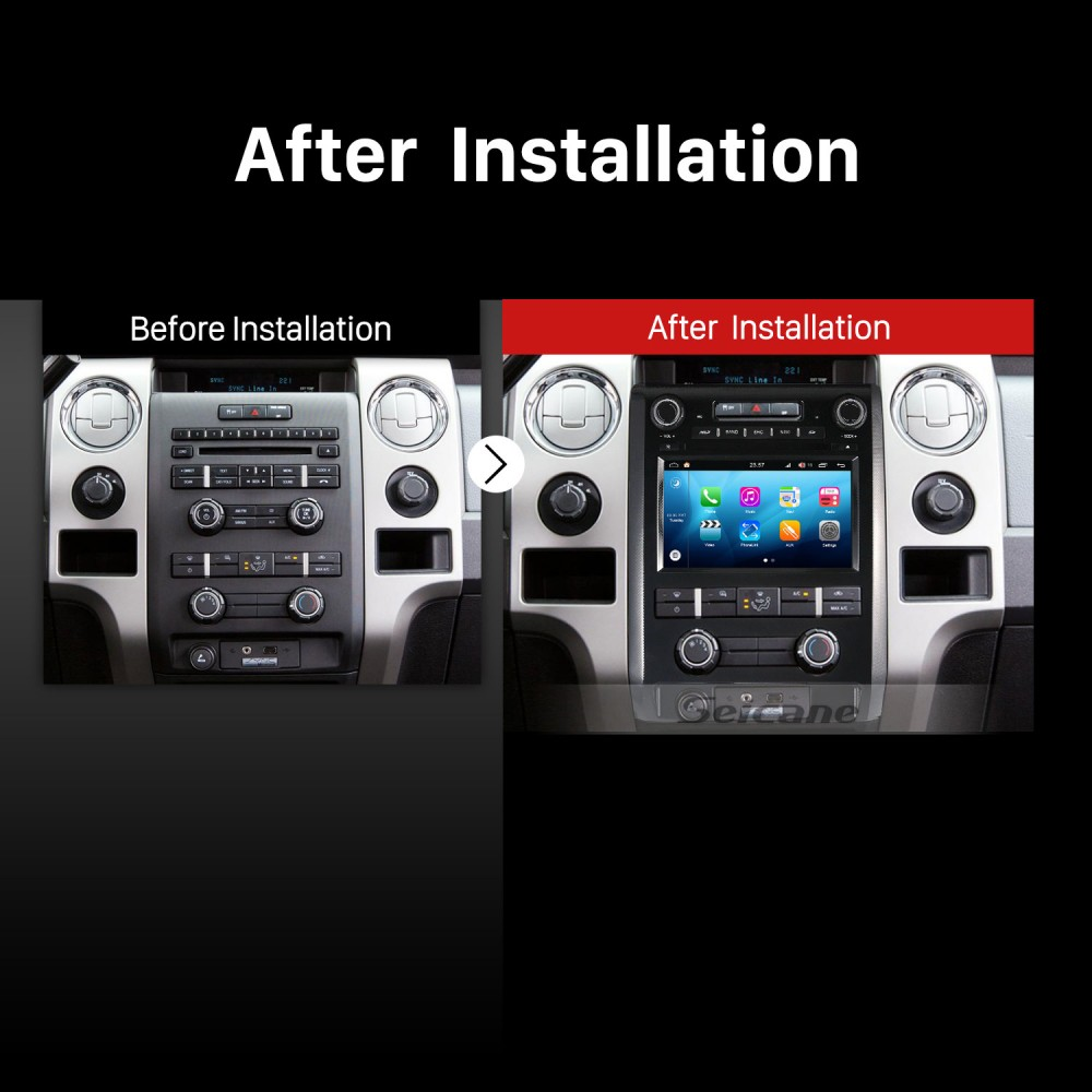 2009-2012 Ford F150 Android 8 0 Touch Screen DVD Player GPS