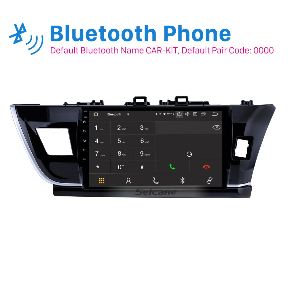 Android 10.0 OS Touch Screen Car Radio for 2014-2016 Toyota Corolla IPS Car Stereo Vehicle GPS Car Multimedia Navigation