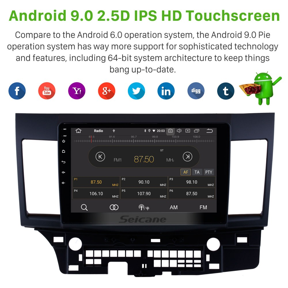 10 1 inch Android 9 0 Radio GPS navigation system for 2007