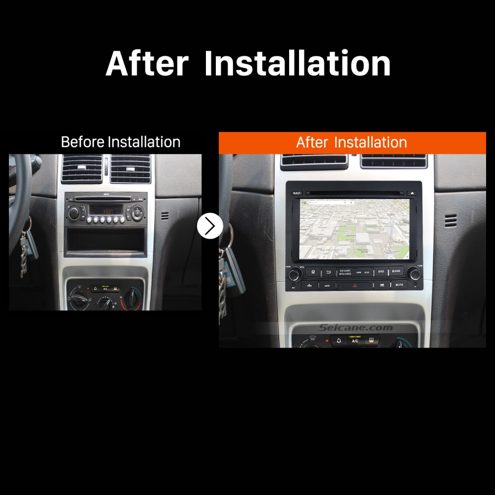 Android 8 0 GPS Navigation System Stereo for Peugeot 405