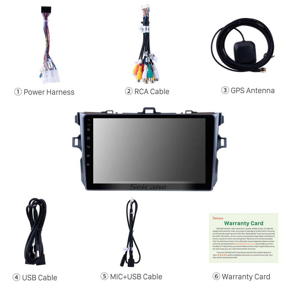 9 inch Android 9 0 GPS navigation system for 2006-2012