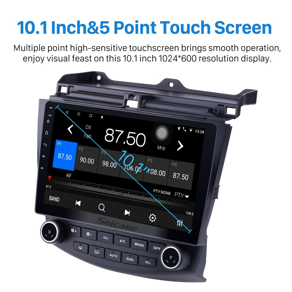 Android 10.0 Car Radio 10.1 inch Touch Screen for 2003 2004 2005 2006 2007 Honda Accord 7 IPS DSP Car Stereo Vehicle GPS Car Multimedia Navigation