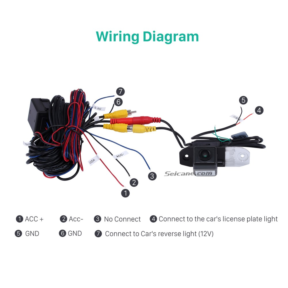 Backup Bullet Camera Wiring Diagram from www.seicane.com