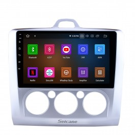 9 pouces OEM Android 11.0 Radio 2004-2011 Ford FOCUS EXI MT 2 3 Mk2 / Mk3 Climatisation manuelle Système de navigation GPS Écran tactile Bluetooth TPMS DVR OBD II Caméra arrière AUX 3G WiFi HD 1080P Vidéo