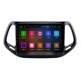 10.1 pouces Android 11.0 HD 1024 * 600 Écran Tactile Stéréo De Voiture Pour Jeep Compass 2017 Bluetooth Musique Radio GPS Navigation Audio Système Soutien Miroir Lien 4G WiFi Caméra De Recul DVR Commande Au Volant