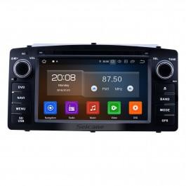 Radio de navigation GPS Android 10.0 de 6,2 pouces pour Toyota Corolla E120 BYD F3 2003-2012 avec support Bluetooth Carplay à écran tactile HD TPMS
