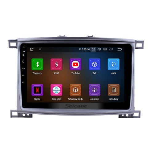 10.1 pouces 2003-2008 Toyota Land Cruiser 100 Auto A / C Android 10.0 Navigation GPS Radio Bluetooth HD Écran tactile AUX Carplay support Mirror Link