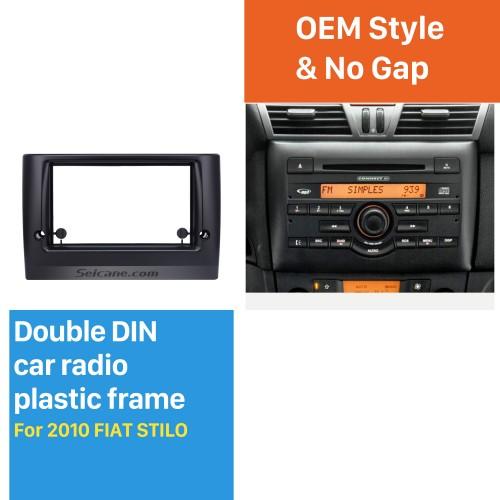 Radio Superbe Double Din Car Fascia pour 2010 Cadre FIAT STILO DVD Dans Dash Mount Kit Panel Surround