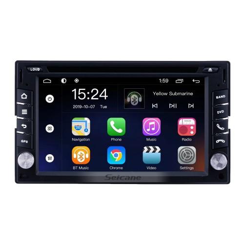 6.2 pouces Android 9.0 pour système de navigation GPS radio universel avec support Bluetooth HD à écran tactile Carplay Mirror Link