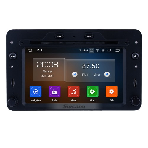 OEM 7 pouces Android 10.0 à partir de 2005 Alfa Romeo 159 Radio Bluetooth HD Système de navigation GPS à écran tactile Support Carplay DVR 1080P