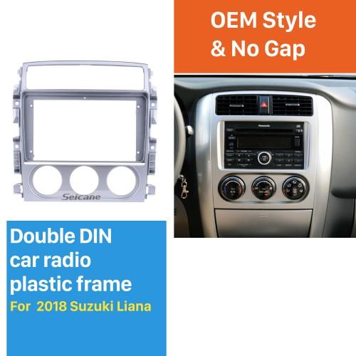 En Dash Silver Frame Pour 9 pouces 2018 Suzuki Liana Fascia Panel Bezel Trim Kit Cover Trim OEM Style