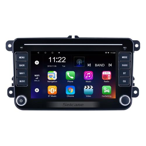 Écran tactile HD 7 pouces Android 10.0 pour VW Volkswagen Universal Radio Système de navigation GPS avec support Bluetooth Carplay TPMS