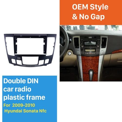 Fascia Black Frame for 9 pouces 2009-2010 Hyundai Sonata Nfc Dash Mount Kit Trim Panel No gap