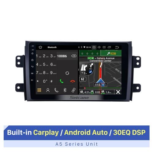 Android 10.0 HD écran tactile autoradio stéréo pour 2007-2015 Suzuki SX4 Fiat Sedici système de navigation GPS Bluetooth lecteur DVD musique USB WIFI DVR OBD2 1080P