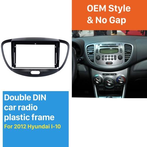 Dans le cadre noir du tableau de bord pour 9 pouces 2012 Hyundai I10 Fascia panneau de lunette kit de garniture garniture de couverture Style OEM