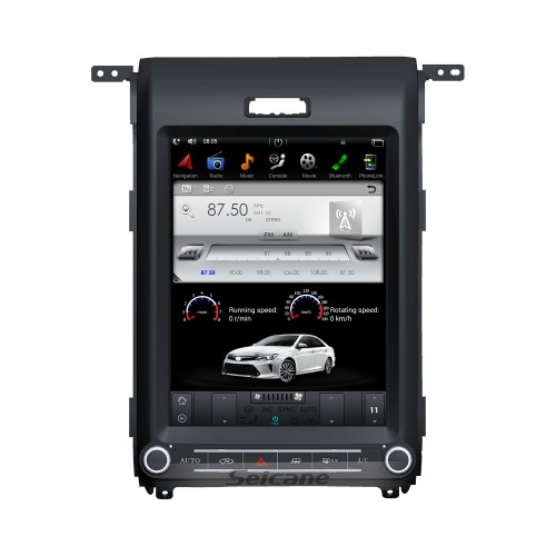 12,1 pouces Android 9.0 unité principale voiture stéréo Sat Navi lecteur multimédia pour 2013 2014 2015 Ford F150 F250 F350 expédition avec radio GPS DVD Bluetooth 3G WiFi Support SWC 3 zones POP