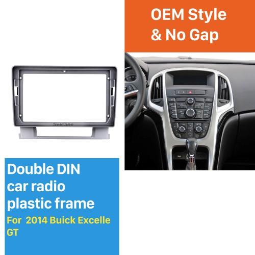 Dans le cadre argenté de tableau de bord 9 pouces pour 2014 Buick Excelle Fascia panneau de lunette kit de garniture garniture de couverture Style OEM