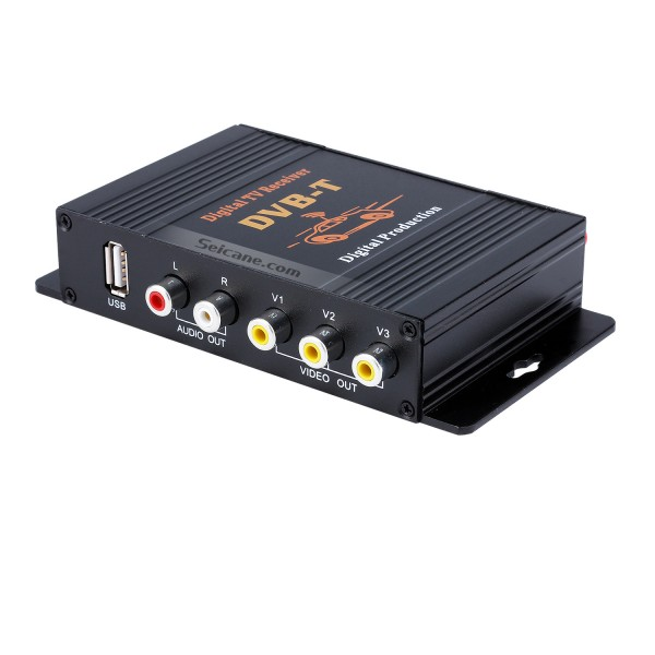 Voiture DVB-T Digital TV Tuner Box LCD / CRT VGA / AV Stick Tuner Box View Receiver Converter Drop Shipping
