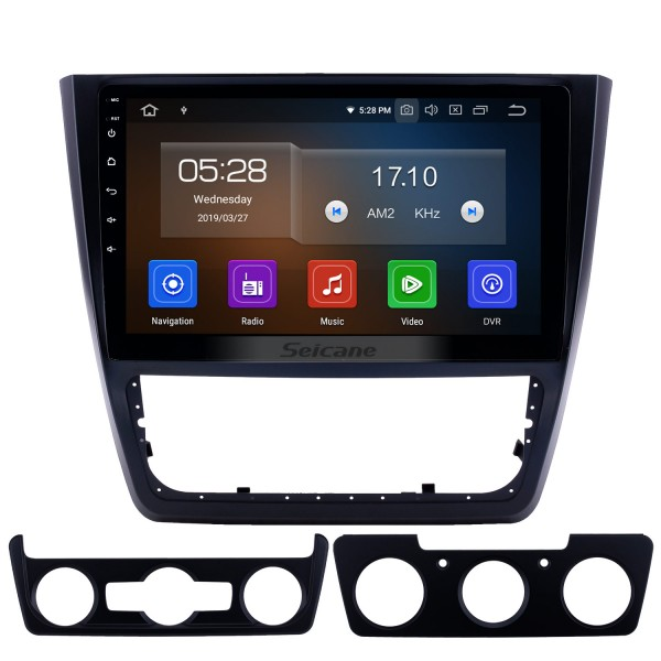 10,1 pouces 2014-2018 Skoda Yeti Android 9.0 Radio de navigation GPS Bluetooth HD à écran tactile AUX USB support Carplay Miroir Lien