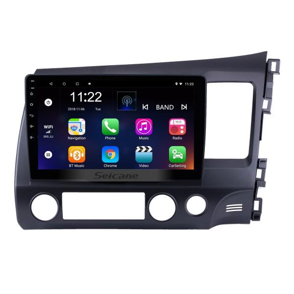 10.1 pouces Android 10.0 2006-2011 HONDA CIVIC conduite à droite HD Écran tactile Radio GPS Système de navigation WIFI USB Bluetooth Musique 1080P OBDII DVR Lien miroir