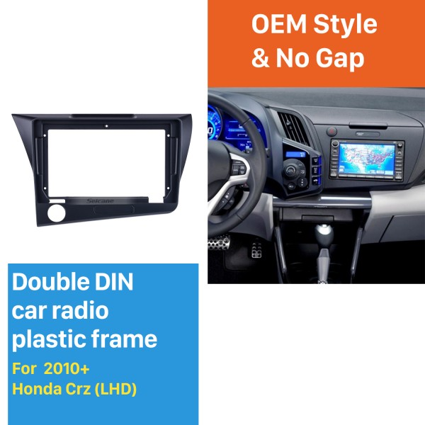 Dans le tableau de bord noir pour 9 pouces 2010 Honda CRZ LHD Fascia Panel Bezel Trim Kit Cover Trim OEM Style