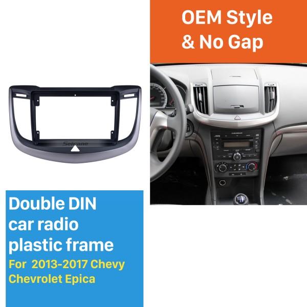 Cadre argent pour 9 pouces 2013-2017 Chevy Chevrolet Epica Audio Dash Trim Trim Fascia Panel Kit