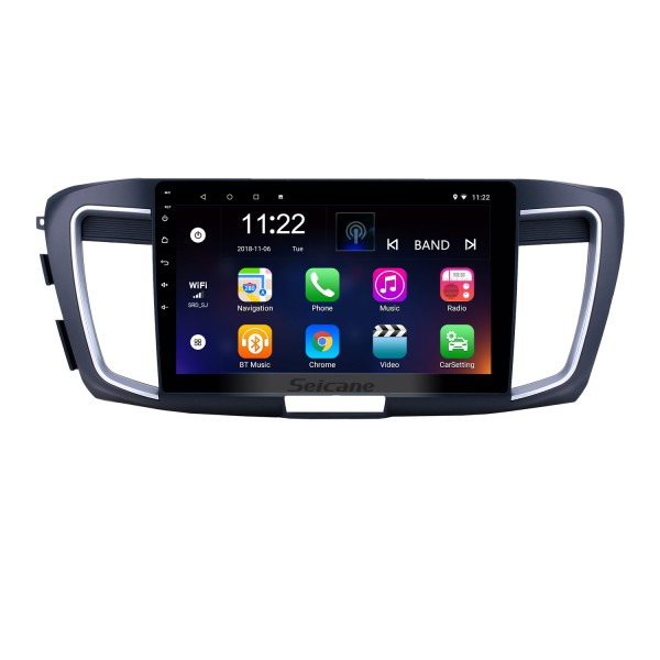 10,1 pouces Android 8.1 HD Radio tactile Navigation GPS pour 2013 Honda Accord 9 Version basse avec support Bluetooth USB WIFI Carplay OBD