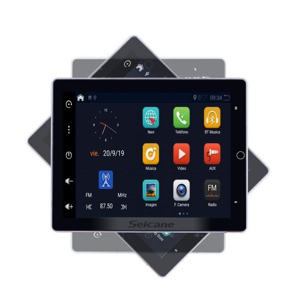 9,7 pouces Android 10.0 pour système de navigation GPS radio universel avec écran rotatif HD 180 ° Prise en charge Bluetooth Carplay Caméra arrière