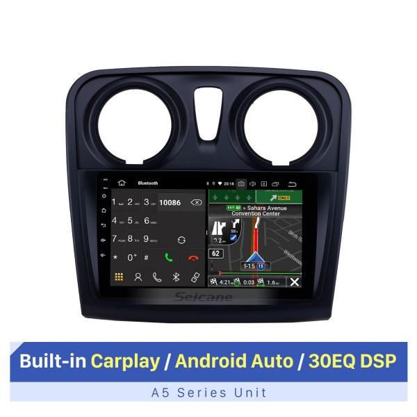 2012-2017 Renault Dacia Sandero Android 10.0 9 pouces Radio de navigation GPS Bluetooth HD écran tactile support Carplay TPMS 1080P