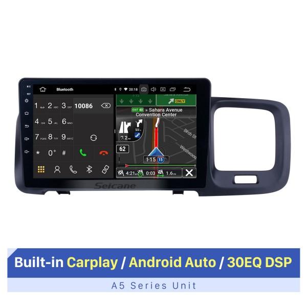 Écran tactile HD 9 pouces Android 10.0 Radio de navigation GPS pour 2011 2012 2013 2014 2015 Volvo S60 avec prise en charge Bluetooth AUX WIFI Carplay TPMS DAB + OBD2
