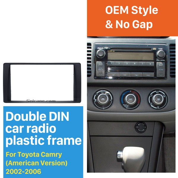 Cadre de Nice Double Din 2002-2006 Toyota Camry américaine Version Car Radio Fascia Audio Dash Panel Mount Surround