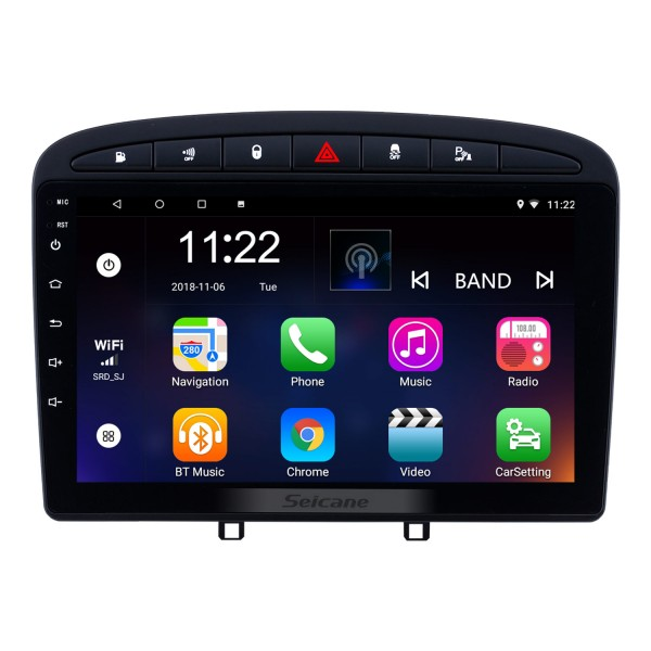 Aftermarket Android 4.4.4 car stereo DVD Player for 2010-2016- PEUGEOT 408 with GPS Bluetooth Car stereo Head Unit Touch Screen Mirror Link OBD2 3G WiFi Video USB SD