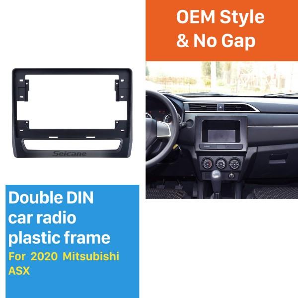 Cadre noir fascia pour 10,1 pouces 2020 Mitsubishi ASX Dash Mount Kit Trim Trim Panel No gap