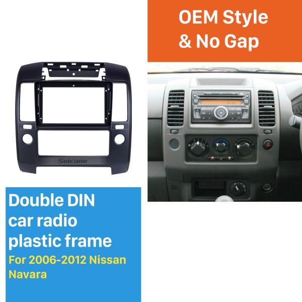 Fascia Black Frame for 9 inch 2006-2012 Nissan NAVARA Dash Mount Kit Trim Trim Panel No gap