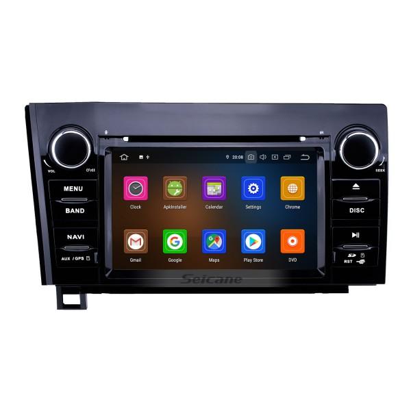 7 pouces Android 10.0 HD Radio de navigation GPS à écran tactile pour Toyota Sequoia / 2006-2013 Tundra 2008-2015 avec prise en charge USB Carplay Bluetooth WIFI Lien miroir