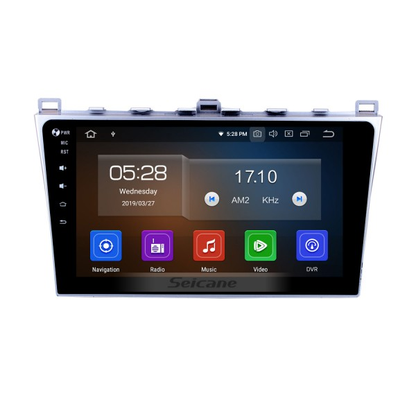 Écran tactile HD 2008-2015 Mazda 6 Android 10.0 Radio GPS Bluetooth Lien miroir TPMS DVR Caméra de recul TV 3G WIFI 16G Flash CPU Quad Core