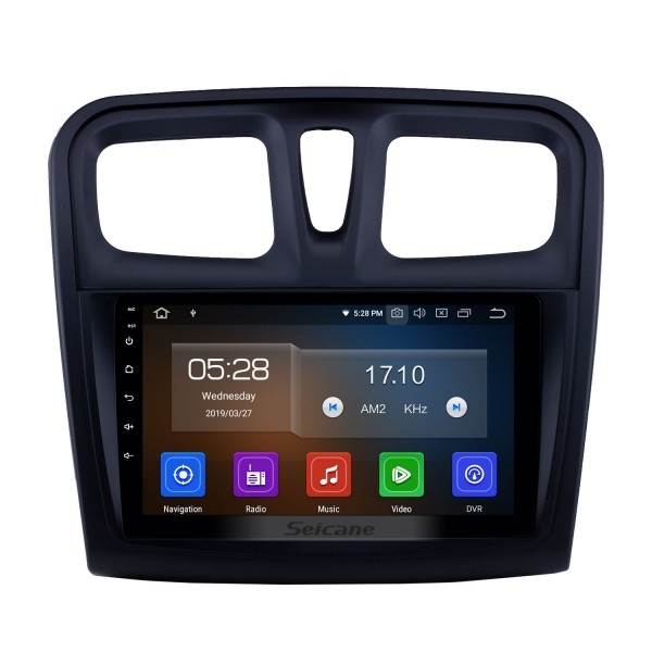 Écran tactile HD 2012-2017 Renault Sandero Android 10.0 Radio de navigation GPS 9 pouces avec Bluetooth Support de Carplay DAB + OBD2