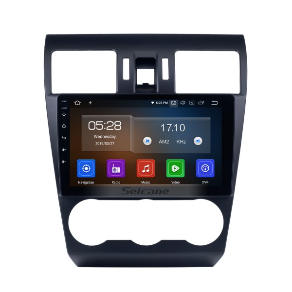 Android 10.0 9 pouces 2014 2015 2016 Subaru Forester HD Radio de navigation GPS à écran tactile avec Bluetooth USB Music Carplay WIFI support Mirror Link OBD2 DVR DAB +