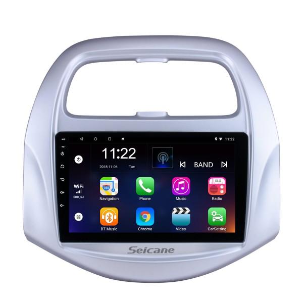 2018 Chevy Chevrolet SPARK Android 10.0 HD Écran tactile 9 pouces Buetooth GPS Navi Autoradio de l'unité principale avec AUX WIFI Commande au volant Prise en charge du processeur Caméra de recul DVR OBD