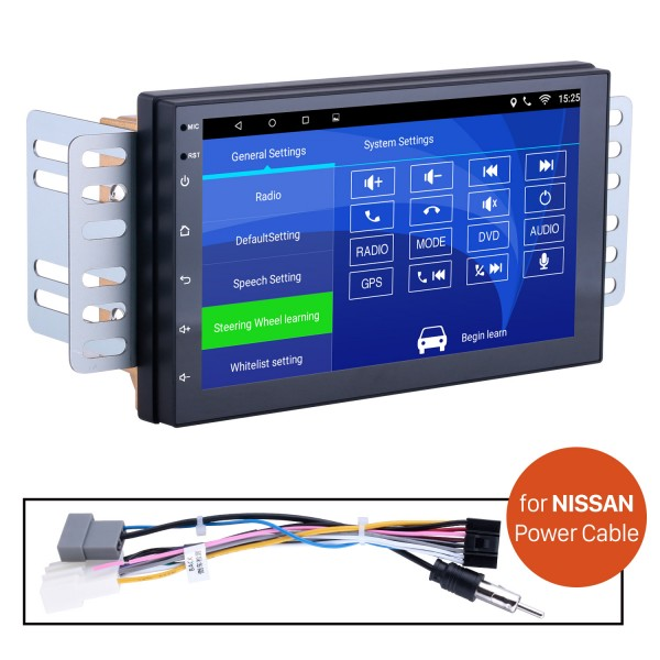 Car Radio Stereo Head Unit Power Cables For Nissan For Model H605E